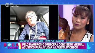 Pelo D'Ambrosio dará concierto virtual para ayudar a Laurita Pacheco tras incendio de su casa