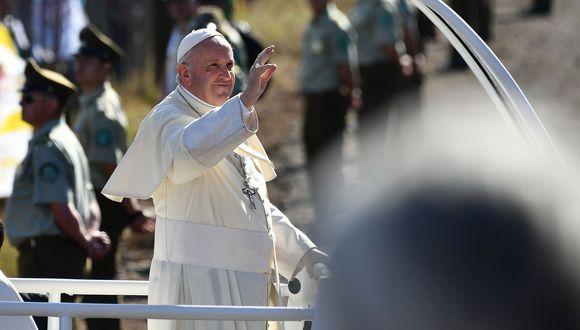 El papa Francisco llegará esta tarde a Lima, tras concluir su visita a Chile. (Foto: AFP)