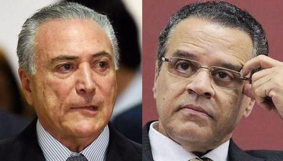 Michel Temer y su ex ministro de Turismo Henrique Eduardo Alves.