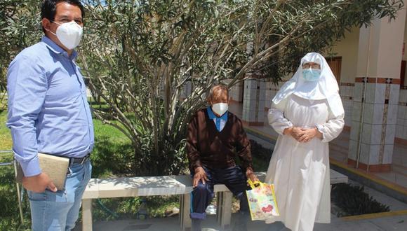 Piura: anciano con COVID-19 que vivía en la calle, venció al virus y encontró nuevo hogar (Foto: MIMP)