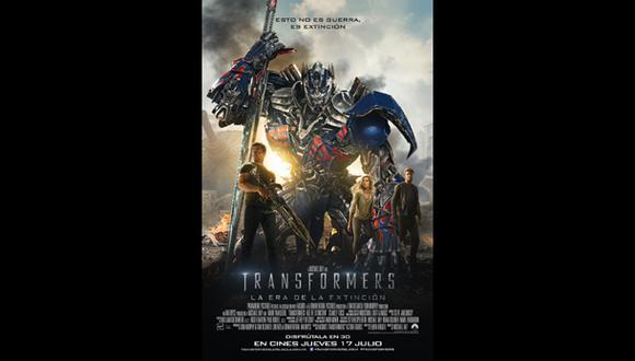 """""""Transformers: la era de la extinción"""": nuevo afiche del filme"""