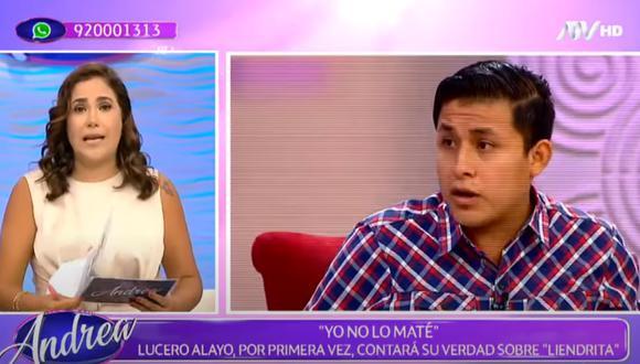 Andrea Llosa en la edición de su programa del 8 de marzo, donde se refirió al asesinato del cómico Guillermo Chunga; alias 'Liendrita'. Foto: ATV.
