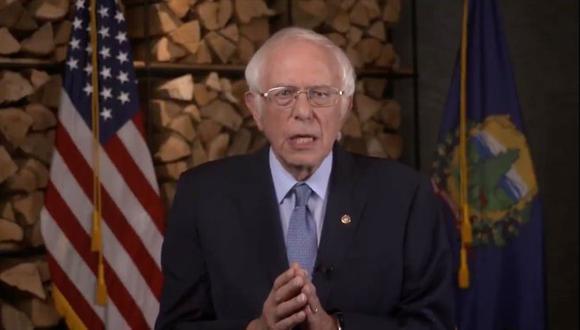 Bernie Sanders fue uno de los oradores en la convención demócrata.