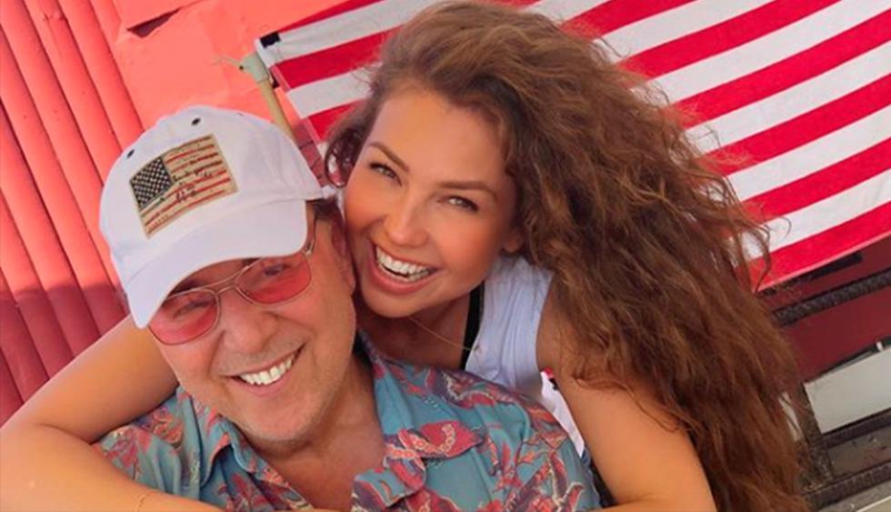 Thalía y Tommy Mottola comparten románticas imágenes en Nueva York. (Instagram)