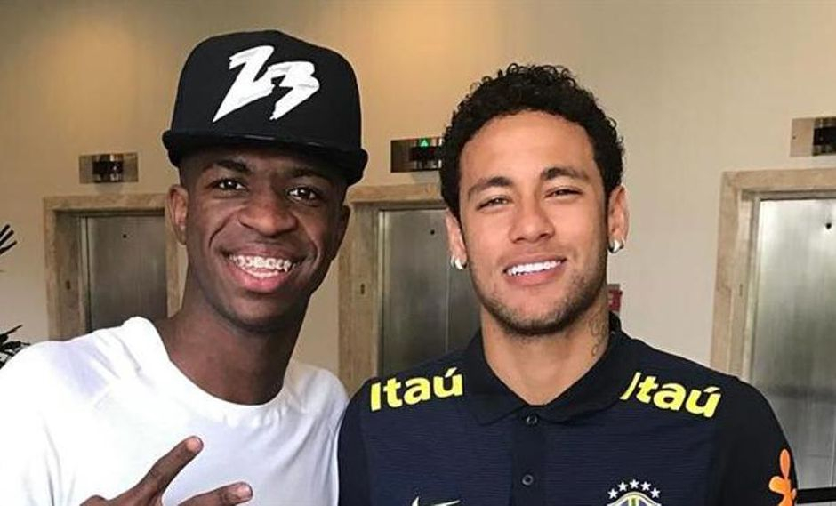Vinicius Junior le guarda un gran respeto y admiración a Neymar. El joven futbolista del Real Madrid anhela, algún día, compartir ataque con el '10' de Brasil. (Foto: Agencias)