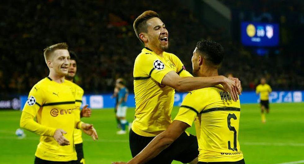 Raphaël Guerreiro colocó el 2-0 para el conjunto alemán en el Atlético de Madrid vs. Borussia Dortmund por la Champions League (Foto: agencias)