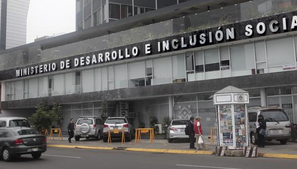 El Ministerio de Desarrollo e Inclusión Social (Midis). (Foto: GEC)