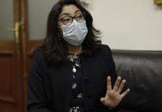 Violeta Bermúdez señaló que los contratos para vacunas COVID-19 se conocerán cuando termine vigencia de cláusulas