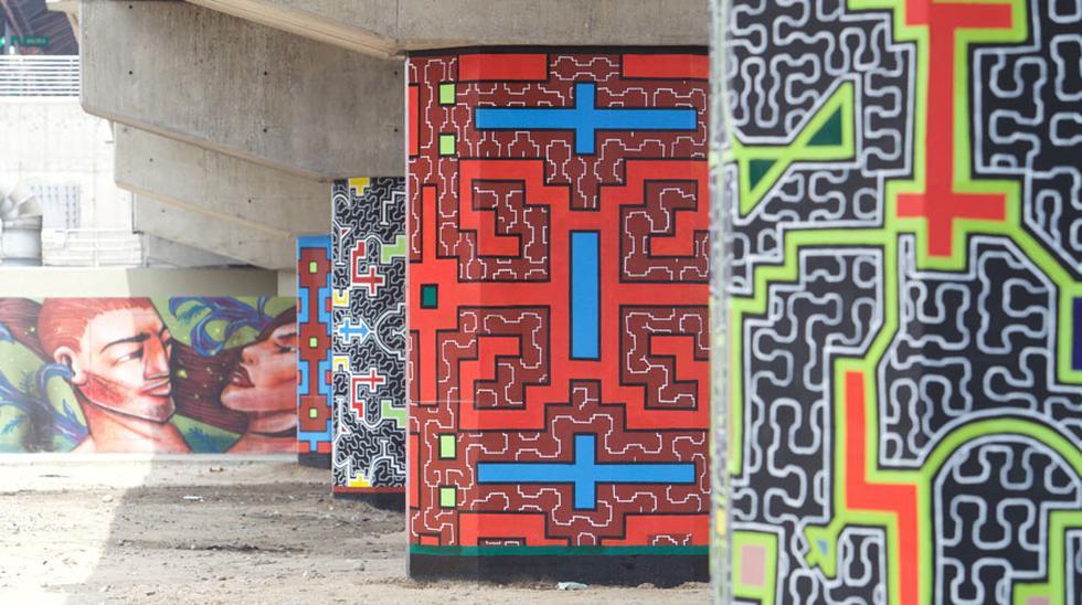 Shipibos le dan color al entorno de la Línea 1 del Metro - 1