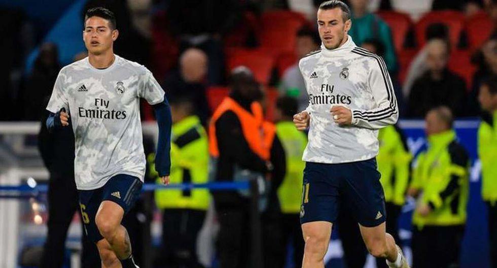 James Rodríguez y Gareth Bale podrían irse juntos a la Premier League. (Foto: EFE)