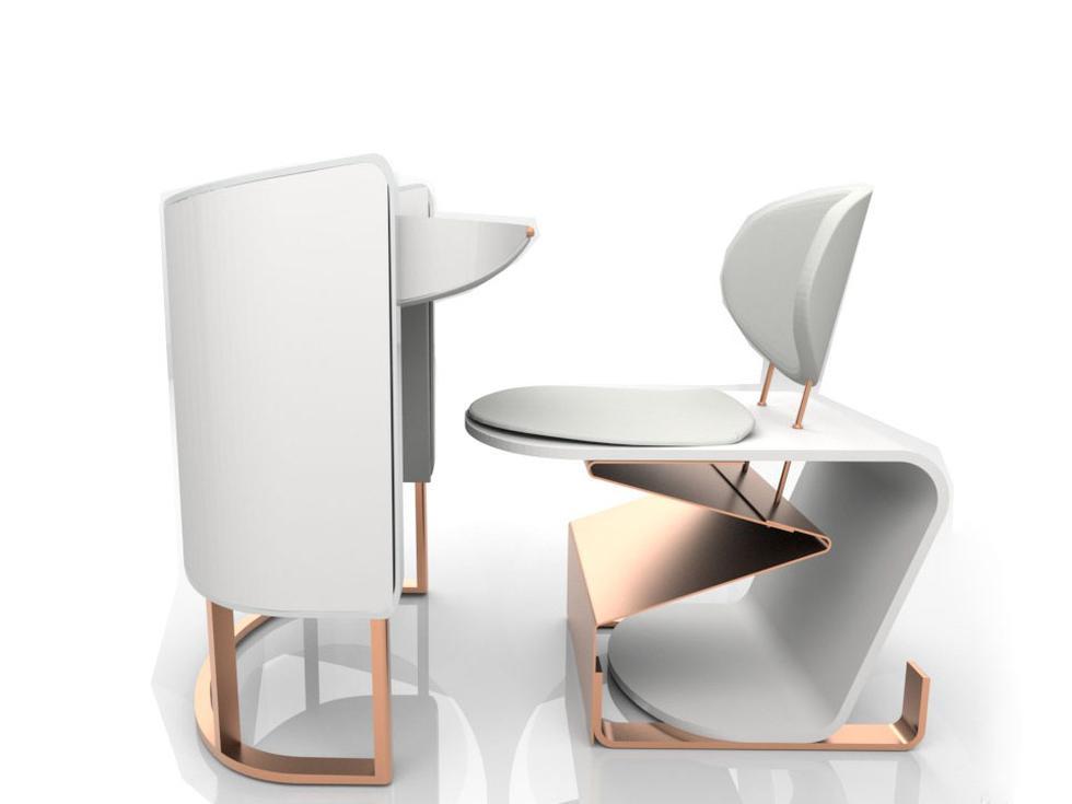 La silla de transformación inteligente que se adapta al usuario fue diseñada por Edelith Segura Bravo, estudiante de la escuela de educación superior Toulouse Lautrec.