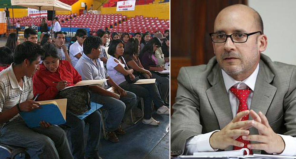 """El ministro Sánchez señaló que """"de ninguna manera"""" jóvenes reemplazarán a trabajadores CAS, debido que son puestos que requieren experiencia laboral. (Fotos: USI)"""