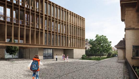 La ampliación de la Ecole Primaire & Gymnase Suisse, del estudio de la oficina francesa Fastome et Lefevre Architectes.