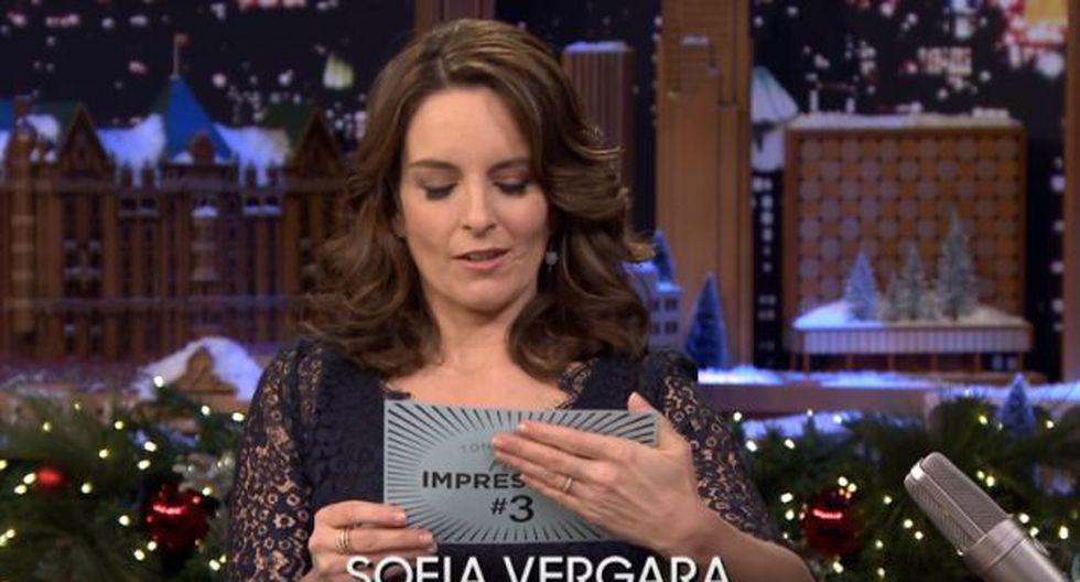 Tina Fey imitó a Sofía Vergara y el resultado fue cómico