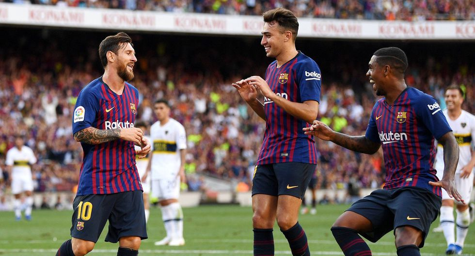 Barcelona no pasó mayores apuros para imponerse a Boca Juniors en el Camp Nou. Malcom, Messi y Rafinha anotaron los goles. (Foto: Twitter)