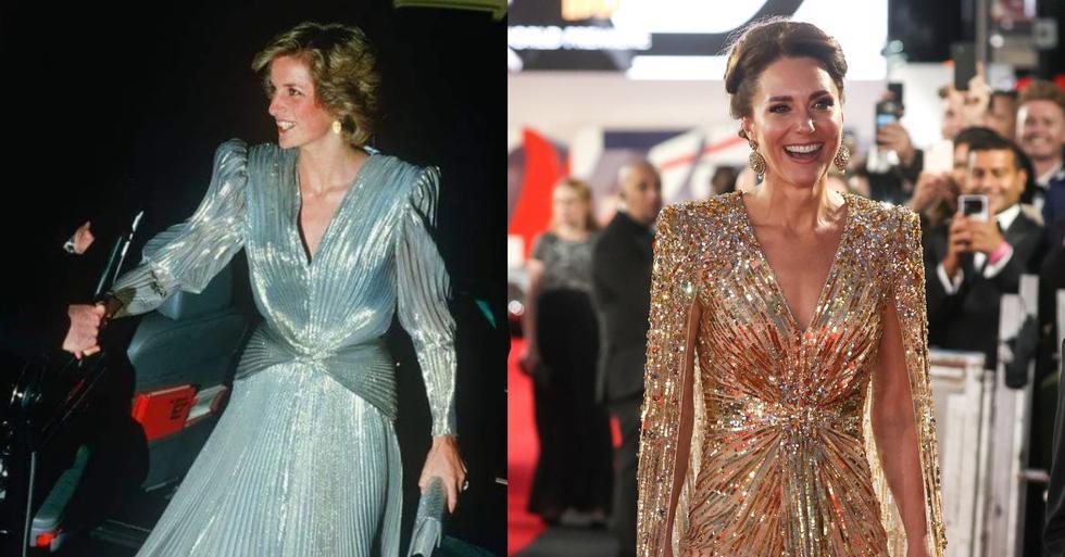 Su última aparición -durante la premiere de la nueva y esperanda película de James Bond- ha causado impresión. El outfit gala de Kate Middleton ha tenido un guiño a la princesa Diana.  (Fotos: IG/ AFP)