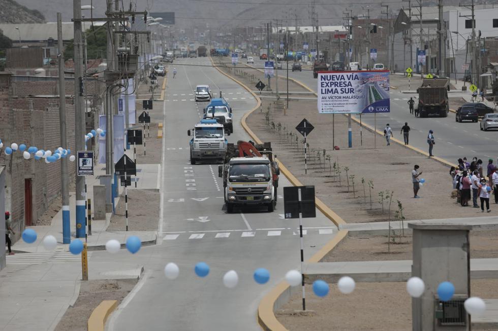 El alcalde de Lima, Jorge Muñoz, inauguró este miércoles la Vía Expresa Lima Sur, la cual cuenta con una extensión de 27 kilómetros de pistas rehabilitadas, que unen las zonas más vulnerables de los distritos de Pachacámac, Cienguilla y La Molina. (Fotos: Anthony Niño de Guzmán/GEC)