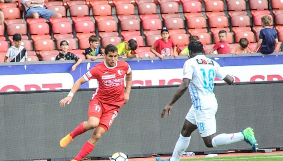El atacante nacional, Alexander Succar, anotó su primer gol en el triunfo del FC Sion por la Liga de Suiza. El peruano partió a su primera experiencia europea a inicios de año (Foto: Twitter)