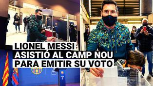 Lionel Messi votó por primera vez en las elecciones presidenciales del Barcelona