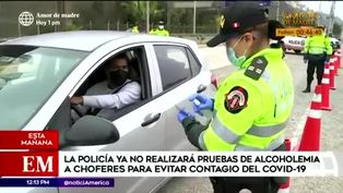 Policías ya no realizarán prueba de alcoholemia a chóferes en la Costa Verde