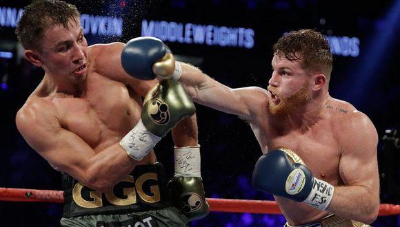 'Canelo' Álvarez vs. Golovkin: el violento golpe que prepara el boxeador mexicano para noquear al kazajo. (Foto: AFP)