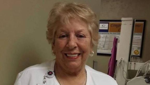 Betty Grial Gallagher era una trabajadora de la salud estadounidense que se negó a retirarse para colaborar con los pacientes y colegas en tiempos de coronavirus y finalmente murió a causa de esa enfermedad, cuando estaba a punto de cumplir 79 años. (Foto: Facebook Coosa Valley Medical, vía La Nación de Argentina /GDA).