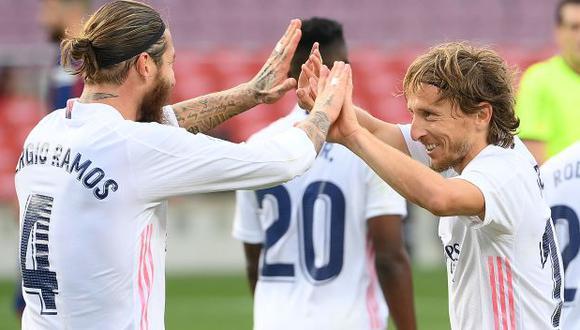 Sergio Ramos y Luka Modric acaban contrato con Real Madrid en junio del 2021. (Foto: AFP)