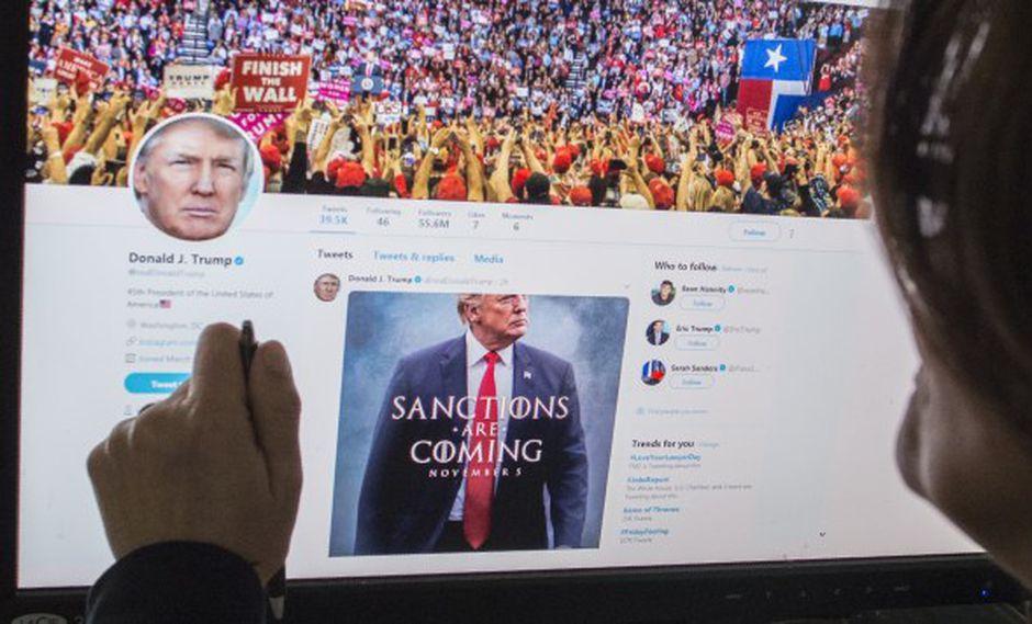 Hasta ahora, Twitter no ha eliminado mensajes del presidente Trump -que se caracteriza por un estilo agresivo en la red social- susceptibles de violar sus normas internas. (Foto: AFP)