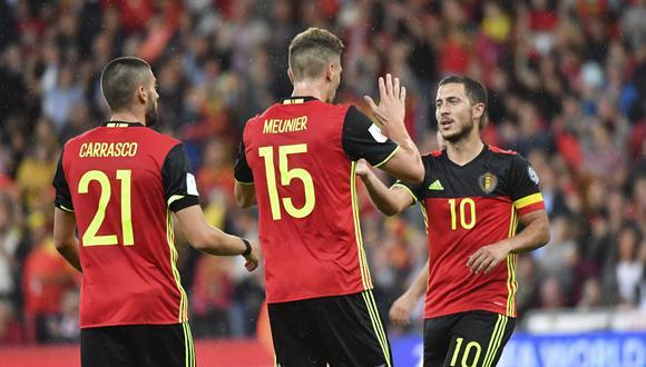 Bélgica no tuvo piedad de Gibraltar y goleó 9-0 con un tanto de Hazard. (Foto: AP)