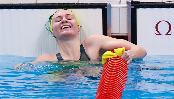 Titmus se colgó su primera medalla en unos Juegos. (Foto: AFP)