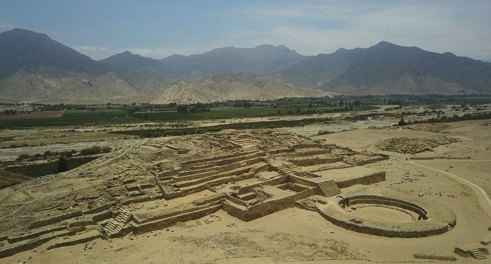 El sitio arqueológico de Caral abarca 626 hectáreas y tiene unos 5,000 años de antigüedad. (Foto: Zona Arqueológica Caral).