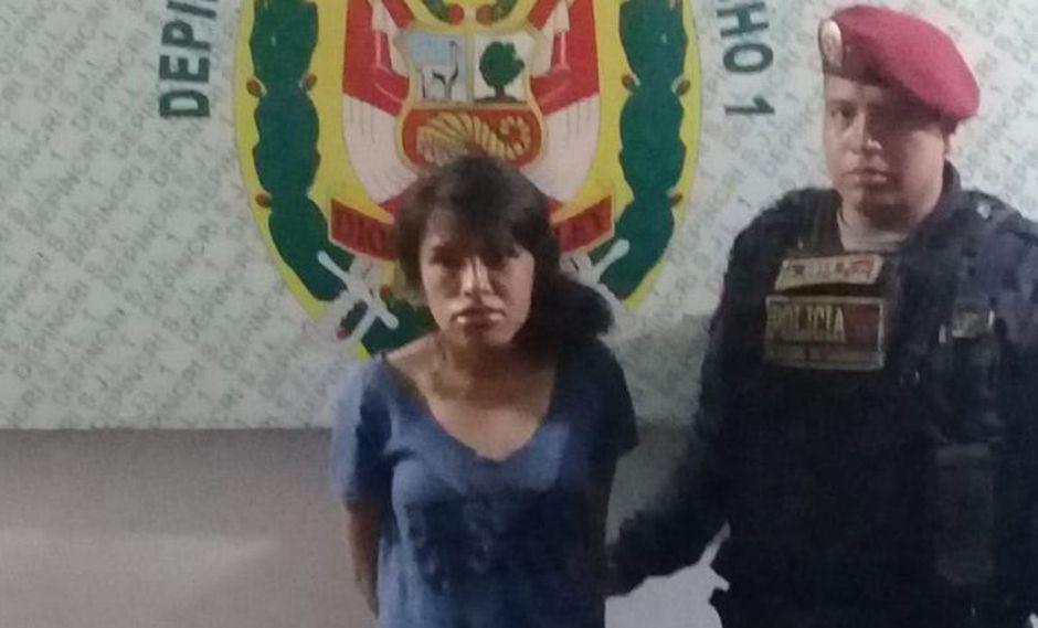 Cesia Gabriela Santos Canales confesó el crimen y aseguró que lo hizo porque supuestamente Eugenio López Mori habría abusado de ella. (Foto: Policía Nacional)