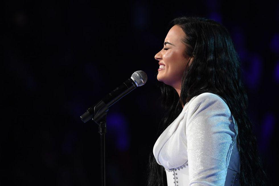 Demi Lovato interpreta tema en los Grammy 2020. (Foto: AFP)