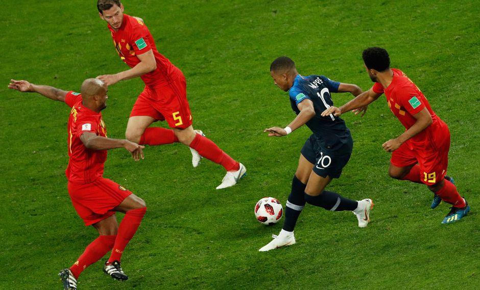 Francia vs. Bélgica: Mbappé y el lujo que hizo alucinar a los hinchas en San Petersburgo [VIDEO] (Foto: AFP)
