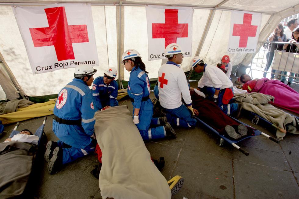 Voluntarios de la Cruz Roja llegan a todas las zonas del país para atender las emergencias. (Foto: USI)