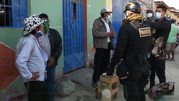 Piura: intervienen a siete personas bebiendo licor en local que no contaba con permisos municipales (Foto: Municipalidad Distrital de Castilla)