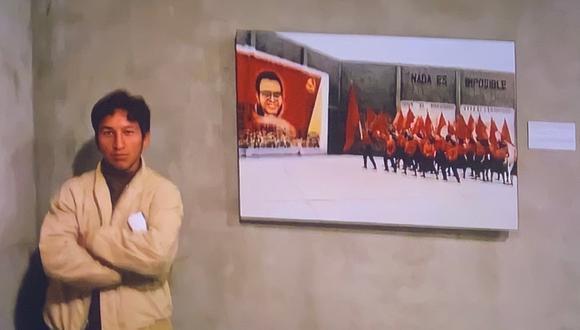 """""""Nos programaron una visita al Museo de la Nación, en el marco del Informe de la Verdad y la Reconciliación, [y] entre compañeros nos sacamos fotos"""", alegó el primer ministro Guido Bellido al ser consultado por esta fotografía. (Foto: Captura de pantalla/Punto Final)."""