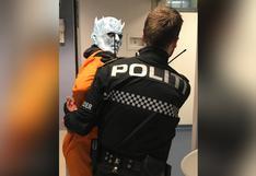 """Policía de Noruega """"arrestó"""" al 'Night King' de Game of Thrones por destruir el muro"""