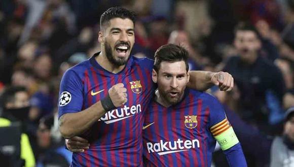 Luis Suárez y Luis Enrique esperan que Lionel Messi siga en el Barcelona