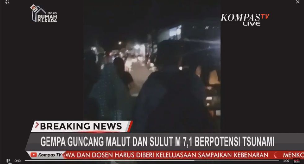 Alerta de tsunami en Indonesia tras potente sismo de magnitud 7,4. Foto: Captura de video