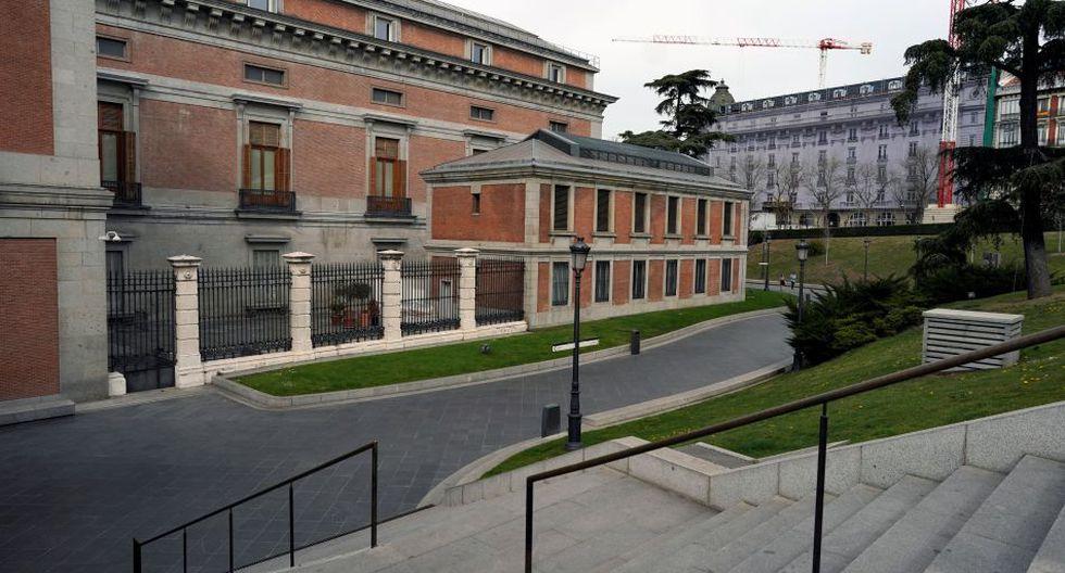 Museo El Prado cerrado en Madrid por el coronavirus.