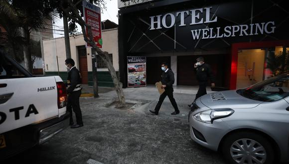 Personal de la Policía intervino al principal sospechoso, quien fue llevado a la comisaria. (Foto: César Bueno @photo.gec)