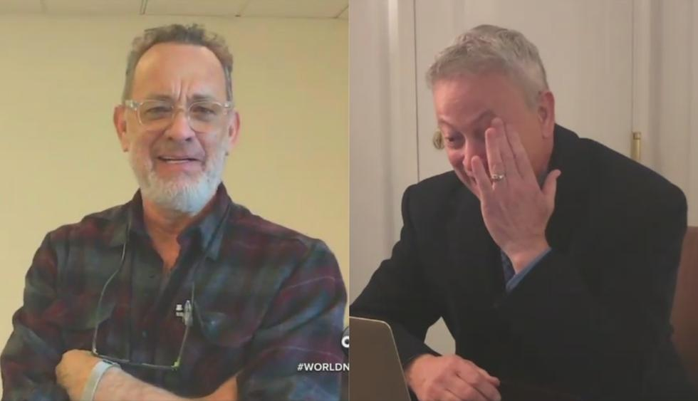 El actor Tom Hanks envió un sentido mensaje a su amigo Gary Sinise por su ayuda a los veteranos de guerra. La historia ha cobrado eco en Facebook.(ABC News)