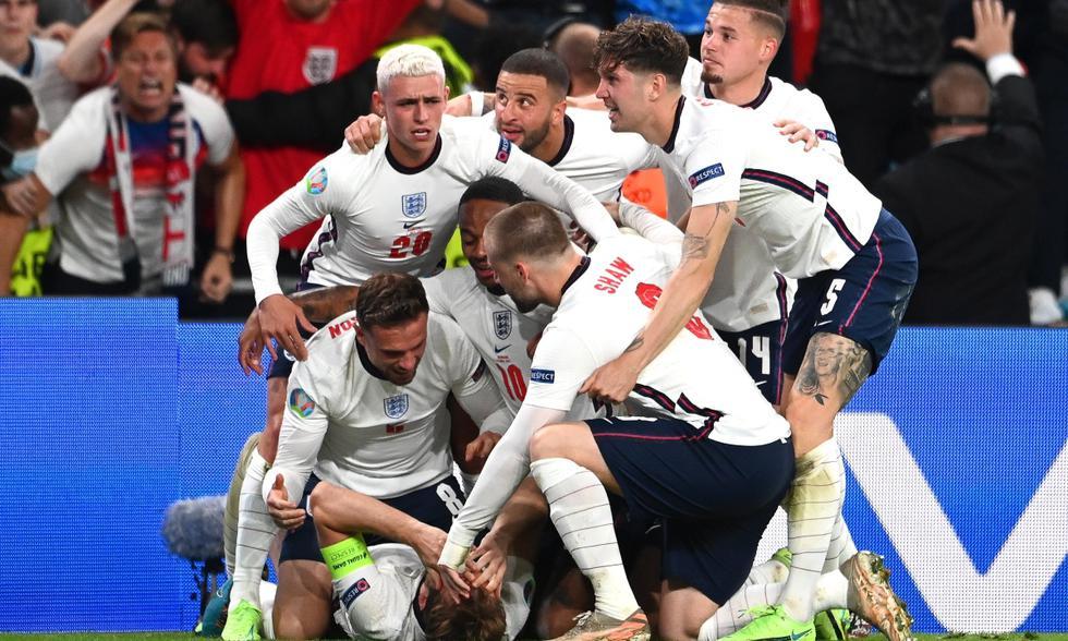 Dinamarca e Inglaterra se enfrentaron en semifinales de la Eurocopa   Foto: EFE