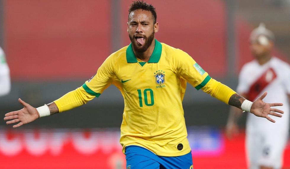 Perú vs. Brasil: El doblete de Neymar | Foto: AFP