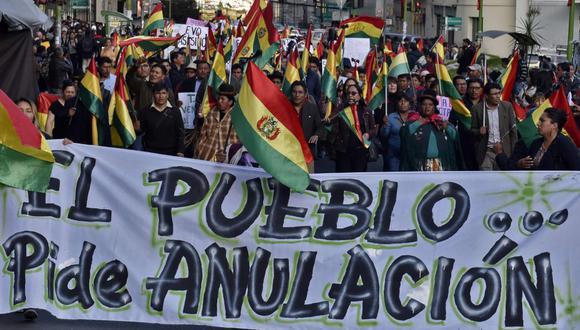 """La oposición boliviana rechaza la auditoría de la OEA, pues cree que se trata de """"una maniobra distraccionista para mantener a Morales en el poder"""". (Foto: AFP)"""