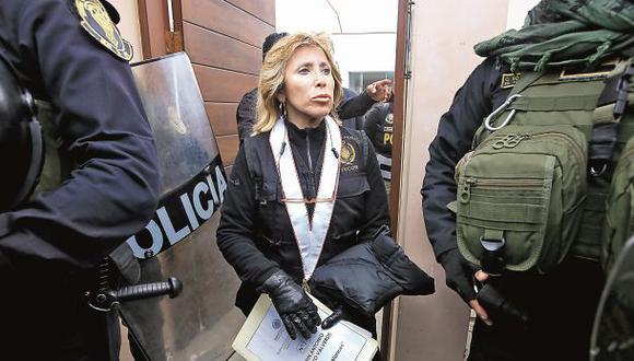La fiscal Sandra Castro investiga a la organización criminal Los Cuellos Blancos del Puerto. (Foto: Jessica Vicente/El Comercio)