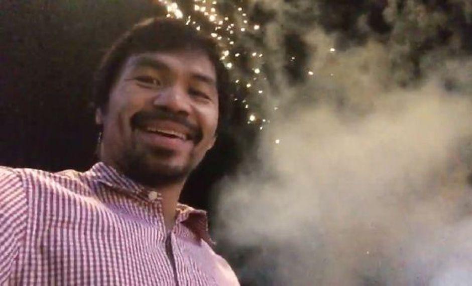 Manny Pacquiao celebró en Facebook la llegada del Año Nuevo