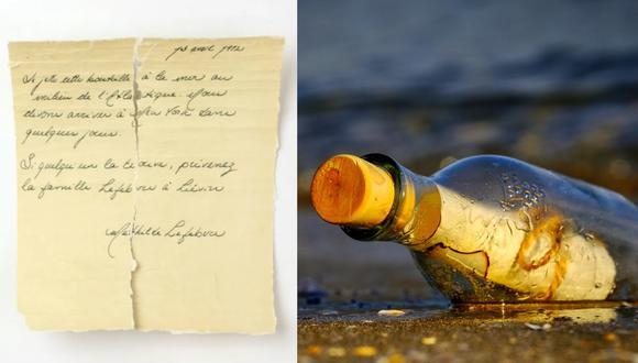 Investigadores de Quebec, Canadá, analizan una carta que se cree fue arrojada al Atlántico por una pasajera del Titanic. (Foto: L'Université du Québec à Rimouski y Pixabay)