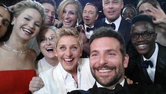 """Ellen DeGeneres y el """"mejor selfie de la historia"""" en los Oscar"""